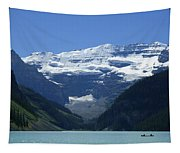 A Mountain Range With A Lake In The Tapestry