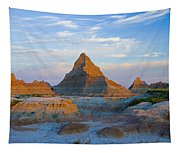 A Red Sunrise Illuminates The Hills In Tapestry