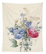 A Rose Anemone Mignonette And Daisies Tapestry