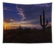 A Saguaro Sunset  Tapestry