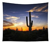 A Sonoran Sunset  Tapestry