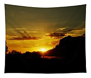 A Southwest Sunrise  Tapestry