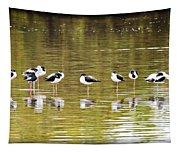 A Stilt Gathering  Tapestry