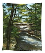 A Summer Walk Along The Creek  Tapestry