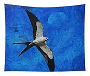 A Swallow And The Moon Tapestry