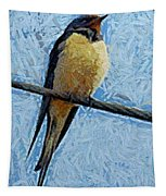 A Swallow On A Wire Tapestry