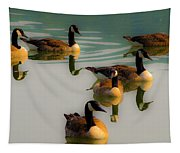 A Swim At Sunset Tapestry