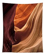 A View In A Slot Canyon Tapestry