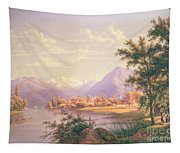A View Of Scherzingen On The Lake Of Thun Tapestry
