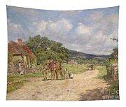A Village Scene Tapestry