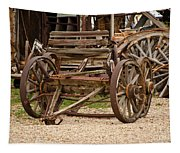 A Wagon And Wheels Tapestry