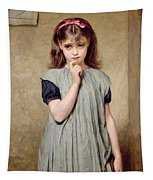 A Young Girl In The Classroom Tapestry