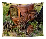 Abandonded Farm Tractor 1 Tapestry