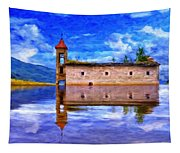 Abandoned Church In Macedonia Tapestry