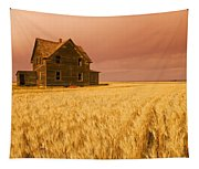 Abandoned Farm House, Wind-blown Durum Tapestry