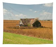 Abandoned Farmhouse In Field 2 Tapestry