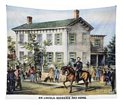 Abraham Lincolns Home Tapestry