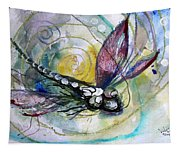Abstract Dragonfly 11 Tapestry