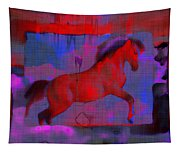 Abstract Horse Tapestry
