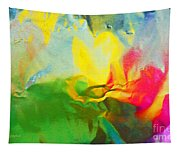 Abstract In Full Bloom Tapestry