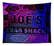 Abstract Joe's Crabshack Sign Tapestry