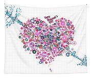 Abstract Pattern Valentine Tapestry