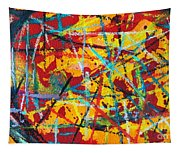 Abstract Pizza 1 Tapestry