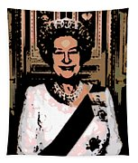 Abstract Portrait Of A Queen Tapestry