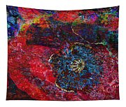 Abstract Red Poppy Tapestry