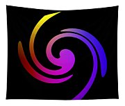 Abstract Spiral Color Tapestry