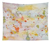 Abstract Summer Sky Watercolor Painting Tapestry