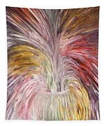 Abstract Vase And Energy Mouvement Tapestry