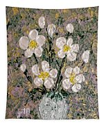 Abstract Wild Roses Heavy Impasto Tapestry