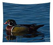 Adult Male Wood Duck Tapestry