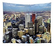 Aerial View From Cn Tower Toronto Ontario Canada Tapestry