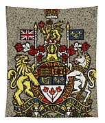 Aged And Cracked Canada Coat Of Arms Tapestry