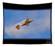 Airplane In Flight Tapestry