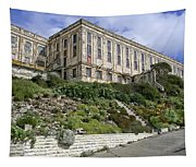 Alcatraz Cell House West Facade Tapestry