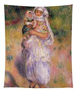 Algerian Woman And Child Tapestry
