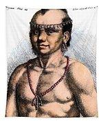 Algonquian Man, 1645 Tapestry