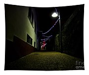 Alley With Lights Tapestry