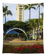 Aloha Tower Tapestry