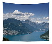 Alpine Lake And Mountains Tapestry