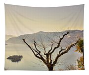 Alpine Lake With Islands Tapestry