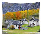 Alpine Village In Autumn Tapestry