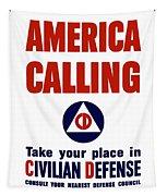 America Calling -- Civilian Defense Tapestry