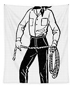 American Cowboy Tapestry