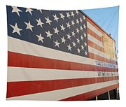 American Flag At Nathan's Tapestry