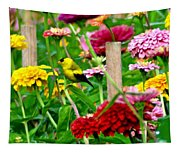 American Goldfinch In The Garden Tapestry