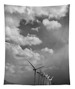 Amongst The Clouds Bw Tapestry
